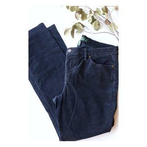 LRL Lauren Ralph Lauren Blue Corduroy Pants